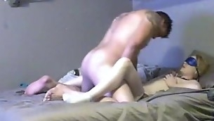 Large tittied non-professional chick is having fine sex with boyfriend