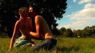 In force Age Teenager babe looks very excited with the vehement sex in open air