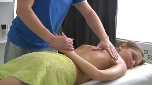 Ravishing lass gets lusty poundings after having massage