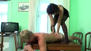 Nasty dark brown performs massage for a stud with the addition of gets fucked